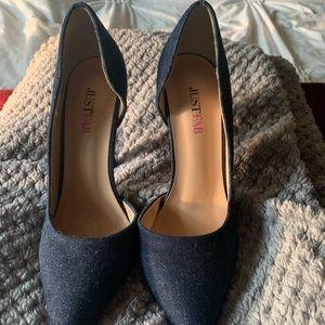 Denim Heels, Just Fab